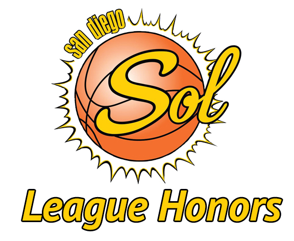 2013-2014 League Honors - San Diego Sol Basketball